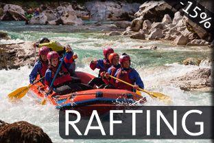 Rafting, Soča