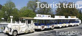 Tourist train in Izola