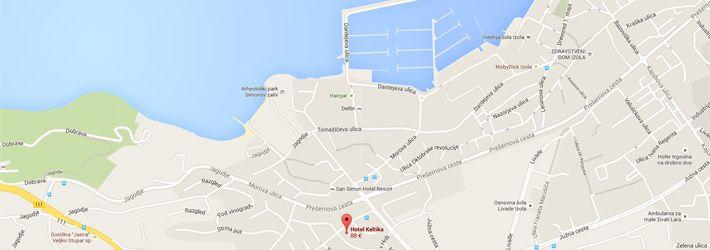 Map. Hotel Keltika