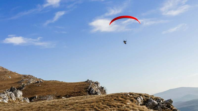 PARAGLIDING AND FLYING