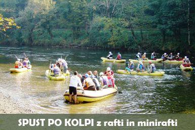 Rafting na Kolpi